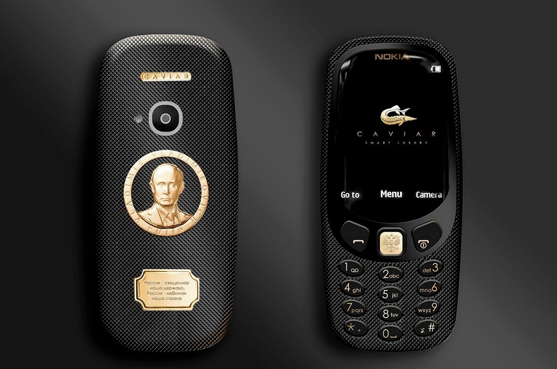 На новой версии ахуенной Nokia 3310 выгравировали Путина